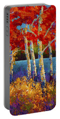 Red Birches Portable Battery Charger