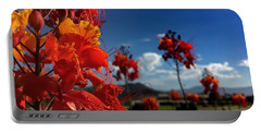 Red Bird Of Paradise Portable Battery Charger