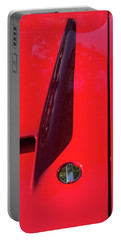Portable Battery Charger featuring the photograph Red Black And Shapes On Hot Rod Hood by Gary Slawsky
