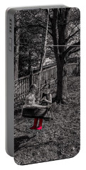 Red Boots Portable Battery Charger