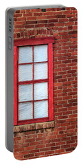 Portable Battery Charger featuring the photograph Red Brick And Window by James Eddy