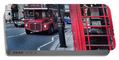 Red Bus In London  Portable Battery Charger