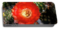 Red Cactus Bloom Portable Battery Charger