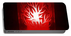 Red Candle Light Portable Battery Charger