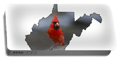 Red Cardinal Looking For Food Portable Battery Charger