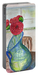 Red Carnations Portable Battery Charger