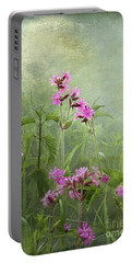 Red Catchfly Or Campion Portable Battery Charger