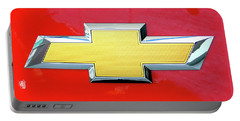 Red Chevy Bowtie Portable Battery Charger