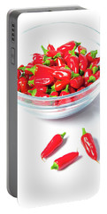 Red Chillies In A Bowl II Portable Battery Charger