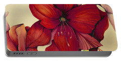 Red Christmas Amaryllis Portable Battery Charger
