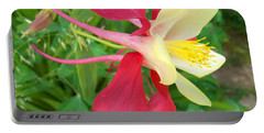 Red Columbine Agape Gardens Portable Battery Charger