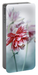 Red Columbines Portable Battery Charger