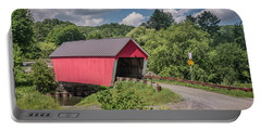 Red Covered Bridge Portable Battery Charger