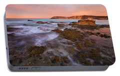 Red Dawning Portable Battery Charger by Mike  Dawson
