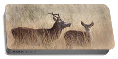 Red Deer Stag And Hind Portable Battery Charger