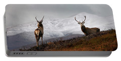 Portable Battery Charger featuring the photograph Red Deer Stags by Gavin MacRae