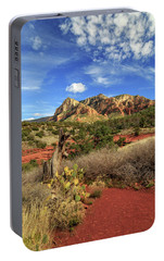 Portable Battery Charger featuring the photograph Red Dirt And Cactus In Sedona by James Eddy