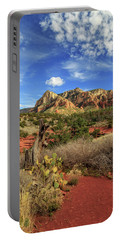 Red Dirt And Cactus In Sedona Portable Battery Charger by James Eddy