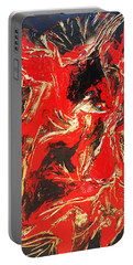 Red Distressed Portable Battery Charger