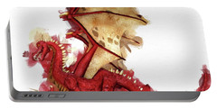 Red Dragon By Mary Bassett Portable Battery Charger
