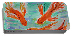 Red Eye Koi Portable Battery Charger by Mary Carol Williams