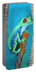 Red-eyed Tree Frog Portable Battery Charger by Ann Michelle Swadener