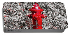 Red Fire Hydrant Portable Battery Charger