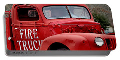Red Fire Truck Portable Battery Charger
