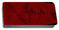 Red And Black Design. Art Portable Battery Charger