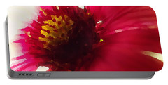 Red Flower Abstract Portable Battery Charger