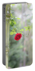 Red Flower Garden Portable Battery Charger