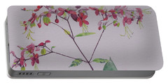 Red Flower Vine Portable Battery Charger