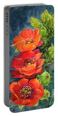 Red Flowering Prickly Pear Cactus Portable Battery Charger