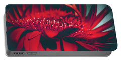Portable Battery Charger featuring the photograph Red Flowers Parametric by Sharon Mau