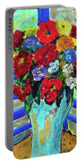 Red Flowers You Brought Portable Battery Charger