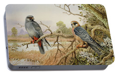 Red-footed Falcons Portable Battery Charger by Carl Donner