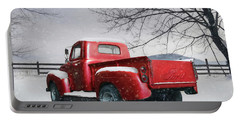 Red Ford Pickup Portable Battery Charger