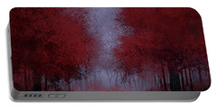 Red Forest Portable Battery Charger by Bekim Art