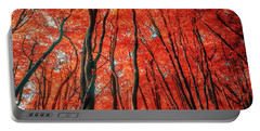Red Forest Of Sunlight Portable Battery Charger