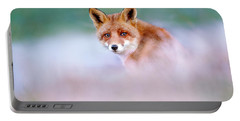 Red Fox In A Mysterious World Portable Battery Charger