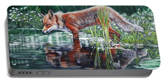 Red Fox Reflecting Portable Battery Charger