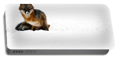 Red Fox In The Snow Portable Battery Charger
