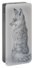 Red Fox Portable Battery Charger by Laurianna Taylor