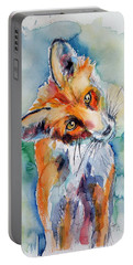 Red Fox Watching Portable Battery Charger