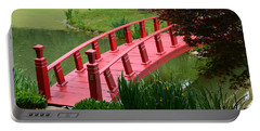 Red Garden Bridge Portable Battery Charger