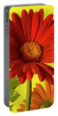 Portable Battery Charger featuring the photograph Red Gerbera Daisy 2 by Richard Rizzo