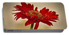 Red Gerbera Two Portable Battery Charger