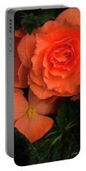 Red Giant Begonia Ruffle Form Portable Battery Charger