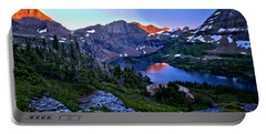 Red Glacier Peaks Over Hidden Lake Portable Battery Charger