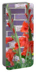 Red Gladiolas Portable Battery Charger